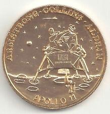 Apollo 11 Commem. Token Coin Medal Moon Landing Armstrong Aldrin Collins w Quote