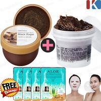 Black Sugar Scrub 100g / Exfoliating wash off scrub mask Face Scrub Skin Care