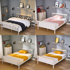 4FT6 Standard Double Bed Frame Solid Wooden Pine Fits Double Mattress 190x135 cm