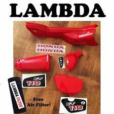 Honda CT110 6v Plastics & Retro Sticker Kit -  Air Box Battery Cover Down Tube