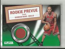 DERRICK ROSE 2008-09 UD NBA SKYBOX ROOKIE PREVUE RC JERSEY