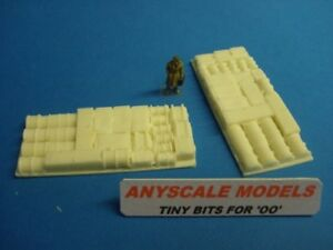 OO/4mm Model Railway. Cargo insert of mixed freight for our dumb barges x2 (0113
