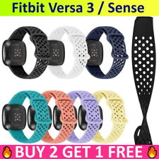 Sport Band Gym Silicone Rubber Loop Strap Wristband For Fitbit Versa 3 / Sense