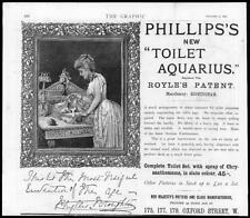 1890 Antique Print Advertisements -  Phillips Toilet Aquarius Jug Basin   (18)
