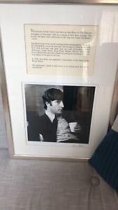 Original John Lennon Photograph From Negative Signed