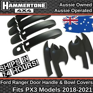PX3 BLACK DOOR HANDLE PROTECTOR KIT-Accessories For Ford Ranger, Everest 2018-21