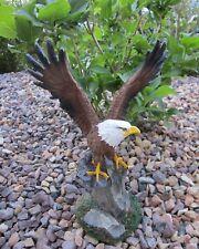 Weißkopf Seeadler Adler Vogel Eagle Garten Deko Tier Figur Raubvogel auf Ast