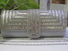 NEW - Ladies stylish Water Drill Evening bag - Silver