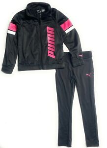 Puma Little Girls' Tricot Jacket and Legging Set  (Ages 4- 7 Years)