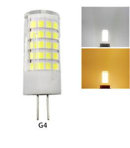 G4 Bi-Pin 5W LED Bulb 64LEDs 2835 SMD Lamp 12V/110V/220V Ceramics White Light