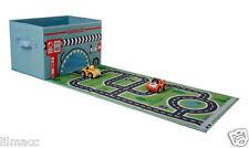 New! Car Garage Toy Storage Box & Playmat with Toys -
