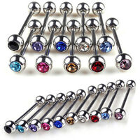 5 Pcs Mixed Logo Ball Tongue Bars Rings Barbell Piercing Stainless Steel SEAU