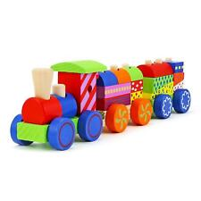 17pcs Wooden Toys Railway Train Set Parts Children Natural Non-Toxic Game Gift