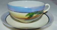 Japan Tea Cup and Saucer with Swan