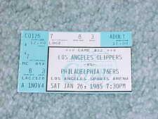 1985 Los Angeles Clippers v Philadelphia 76ers Basketball Ticket Dr. J 27 points