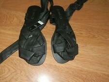 Next Size 5 (38) Black Leather Strappy Leg Ties. New With Label.