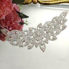 Diamante Rhinestone Butterfly Applique Motif Patch Sewing on Wedding Dress Decor