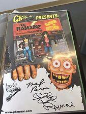 Ramones, Ramainz rare signed poster Dee Dee Ramone Marky and Barbara