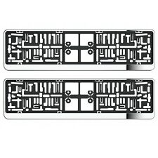 NEW 2 X Chrome Effect CAR NUMBER Licence PLATE HOLDERS SURROUNDS FRAMES