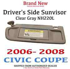2006-08 CIVIC 2DR Genuine OEM Driver's Light Clear Gray Sunvisor 83280-SNA-A01ZC