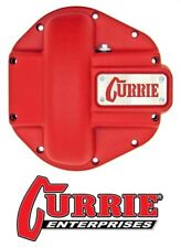 Currie Heavy Duty Iron Front Differential Cover - Textured Red fits Jeep Dana 44