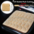 12V Car Seat Heated Plush Cushion Cover Heating Heater Winter Warmer Pad US