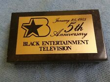 Black Entertainment Television BET 5th Anniversary 1985 Marble Logo Paperweight