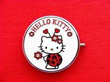 HELLO LADY BUG KITTY CAT ROUND METAL PILL MINT BOX CASE