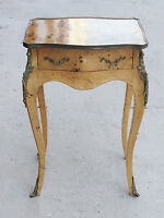 ITALIAN TUSCAN WALNUT BURL LOUIS XV STYLE OCCASIONAL SIDE TABLE BRONZE MOUNT
