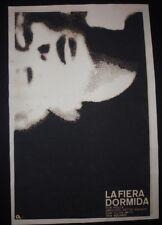 SLEEPING TIGER Cuban Silkcreen Poster for UK Movie w/ Blacklisted Director CUBA