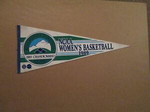 NCAA Women's Basketball Circa 1989 Championship Pennant