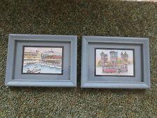 2 Vintage 1980's Eileen David Signed SAN FRANCISCO Framed LITHOGRAPHS Prints