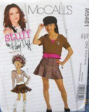 "McCalls Pattern #M5461 Children/Girls Tops & Skirts ""Hilary Duff"" (7-8-10-12-14)"