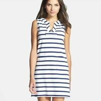 Kate Spade Navy and White Stripe Tropez Dress. Size M.
