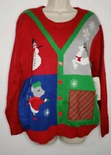 Great Christmas Sweater Womens Large Ugly Sweater Party Crew Neck(bbb340