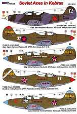 AML Models Decals 1/48 SOVIET ACES IN KOBRAS Bell P-39 Airacobra