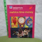 METRICS TIME MONEY activity book Kindergarten 1974 beat-up workbook