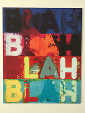 MEL BOCHNER, 'BLAH BLAH BLAH' private view invitation card, 2017.