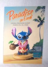 WDCC STITCH Paradise on Earth Postcard - Mint & Free shipping!!