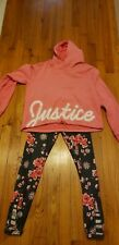 justice girls leggings and hoodie set