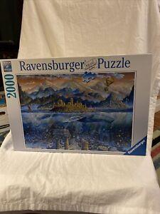 Ravensburger 2000 Piece Jigsaw Puzzle - Wisdom Whale # 164646 Excellent Co