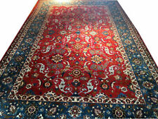 An Antique 9' X 13 Isfahane Area Rug