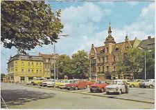 AK Finsterwalde Marktplatz gel. 1990 nach München Rathaus Trabant Wartburg Bus