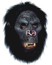New Gorilla Monkey Mask wild animal with Teeth ape head Pl55 dress up costume