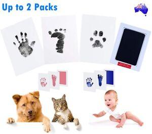 Newborn Footprint Handprint Safe Inkless Gift Foot Hand Print Wipe Kit Gift AU