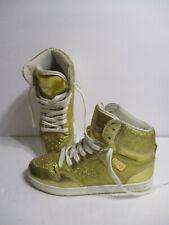 Pastry Women Pop Tart Glitter High Top Dance Sneaker Shoes GOLD sz 7 US PA151001
