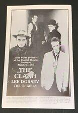THE CLASH Original Concert Program 1980  NJ Strummer Jones Simonon Headon