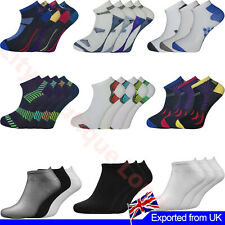 Mens Trainer Liner Ankle Socks Cotton Rich Low Cut Sports Socks Size 6 - 11