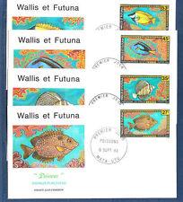 Wallis et Futuna  enveloppe 1er jour   faune marine poissons  1993