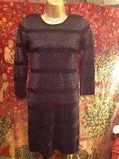 Women's Scoop Neck Striped Acrylic Stretch, Bodycon Dresses